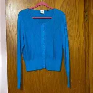 CAbi blue Darby sweater cardigan #3169